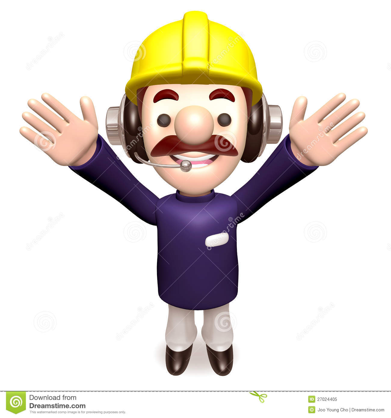 Hurray! Construction Work A Member Of The Staff Royalty