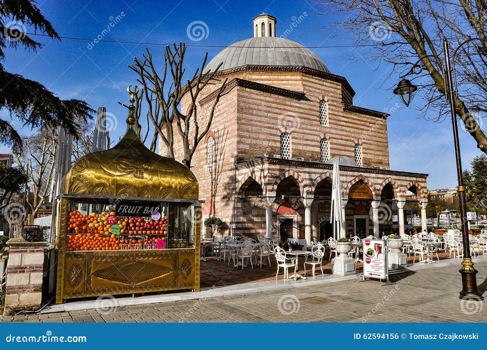 Hurrem sułtanu skąpania, obecnie Nowożytna tkactwo galeria i owocowy bar, Istanbuł, Turcja