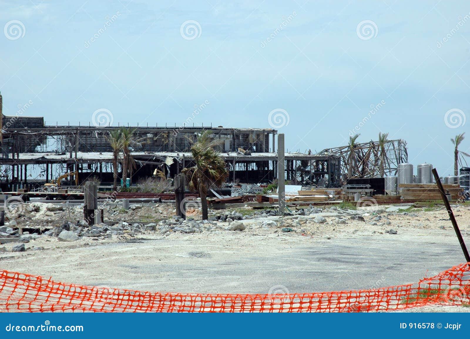 Hurricane Katrina Stock Photo Image Of Rain Biloxi Decay 916578