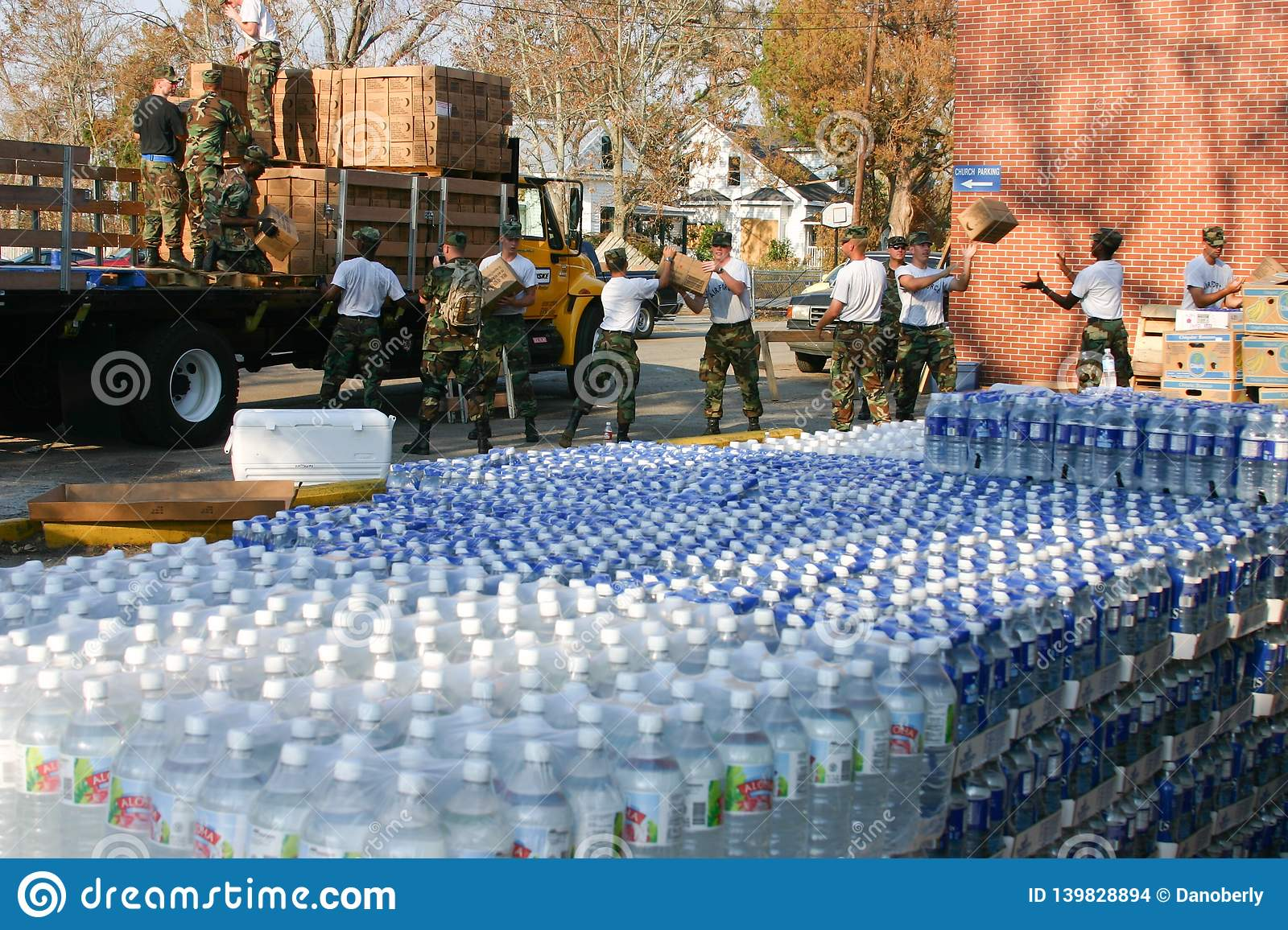 Hurricane Katrina Emergency Water Delivery Editorial Stock Image Image Of Supplies Preparation 139828894