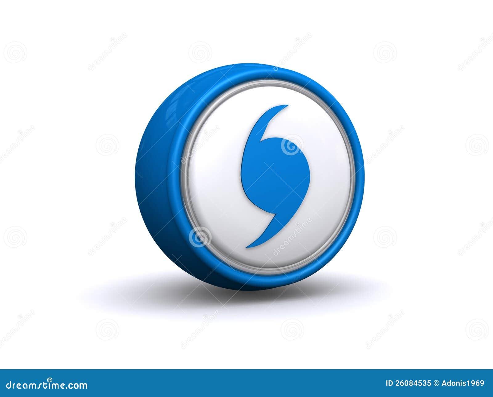 Hurricane Warning Icon Button Stock Illustration Illustration Of