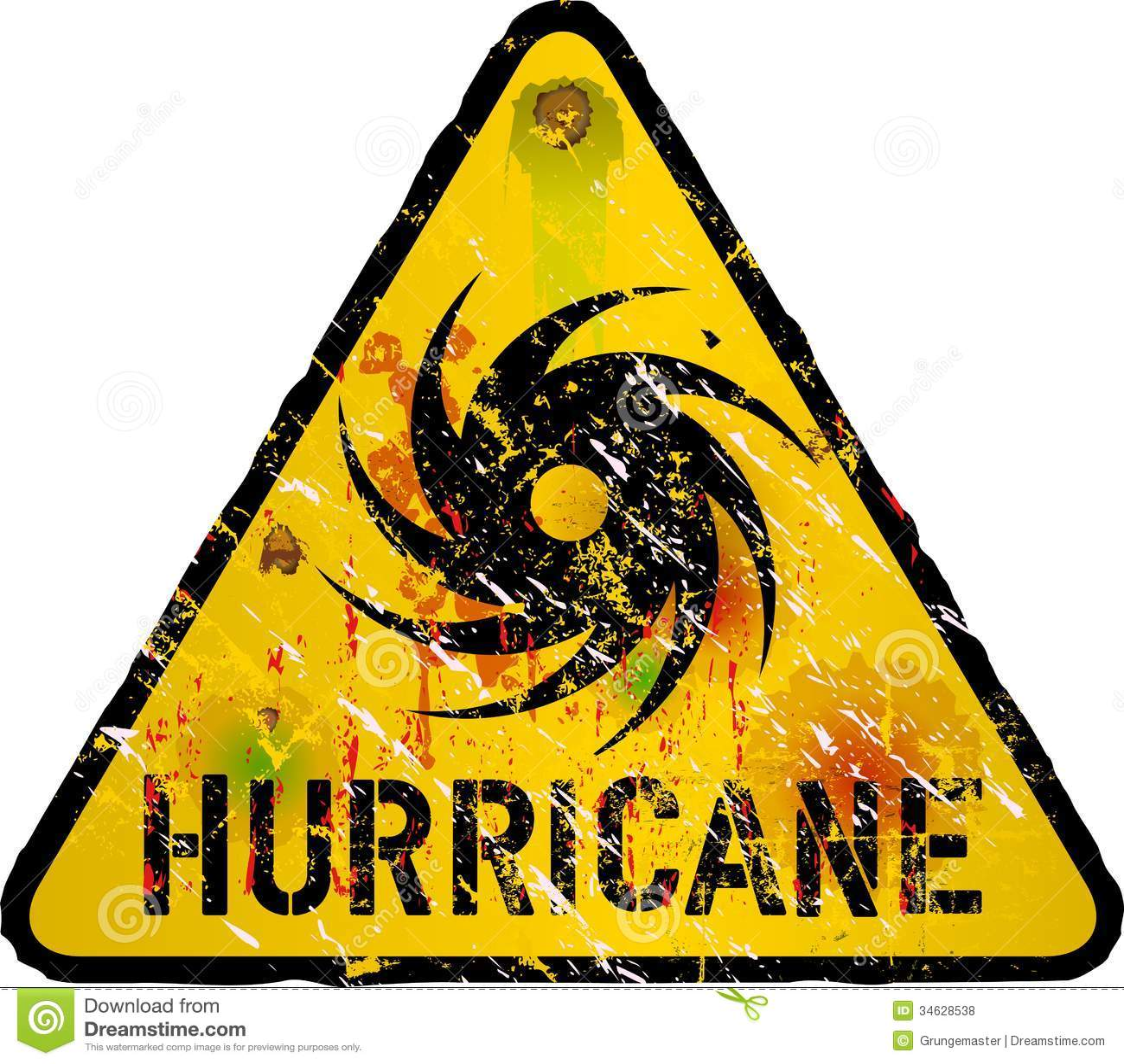 Hurricane Warning Stock Vector Illustration Of Label 34628538