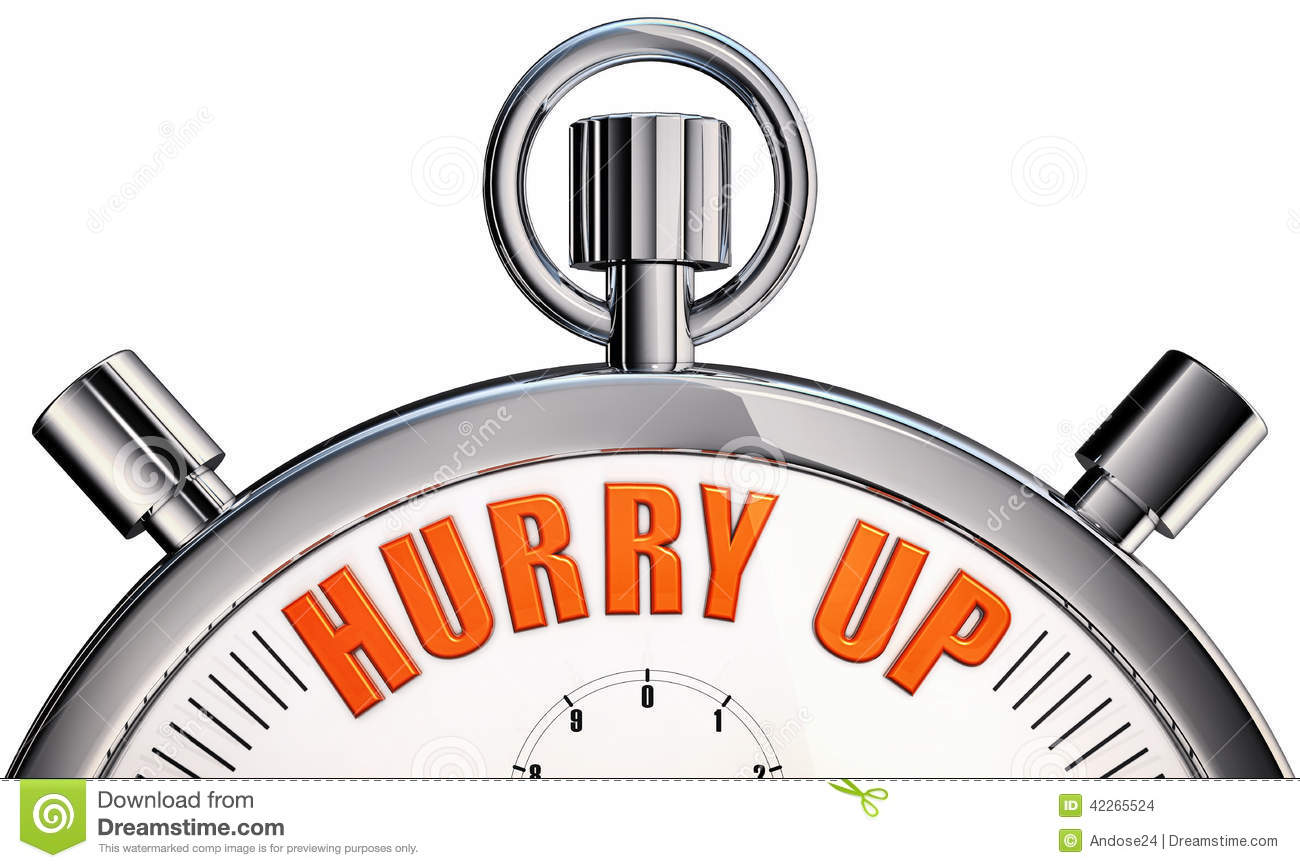 Hurry up stock illustration. Illustration of limit, watch ...
