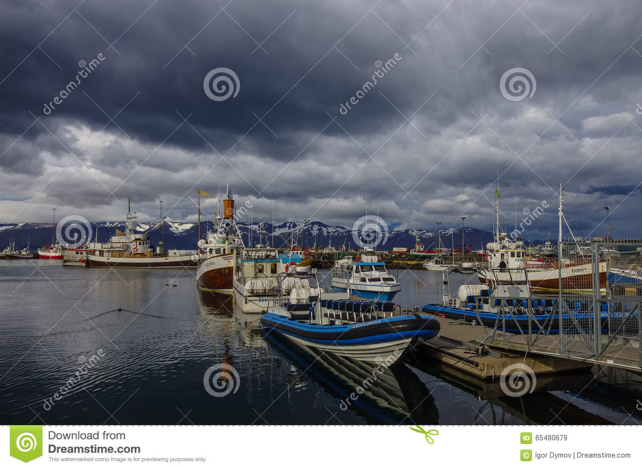 Husavik Iceland  city photos gallery : HUSAVIK, ICELAND august 25, 2014: Husavik is a town on the north ...