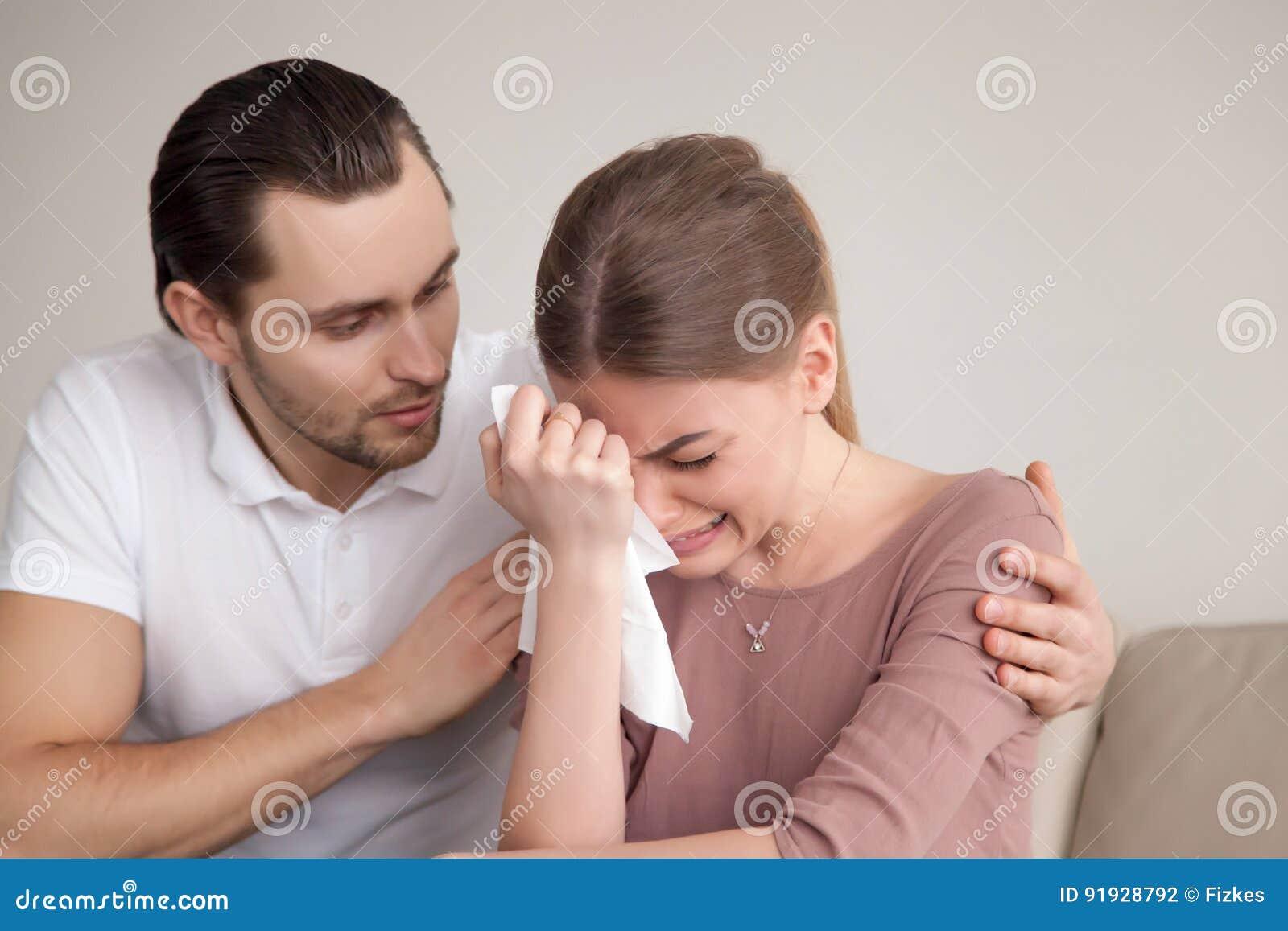 Women sobbing