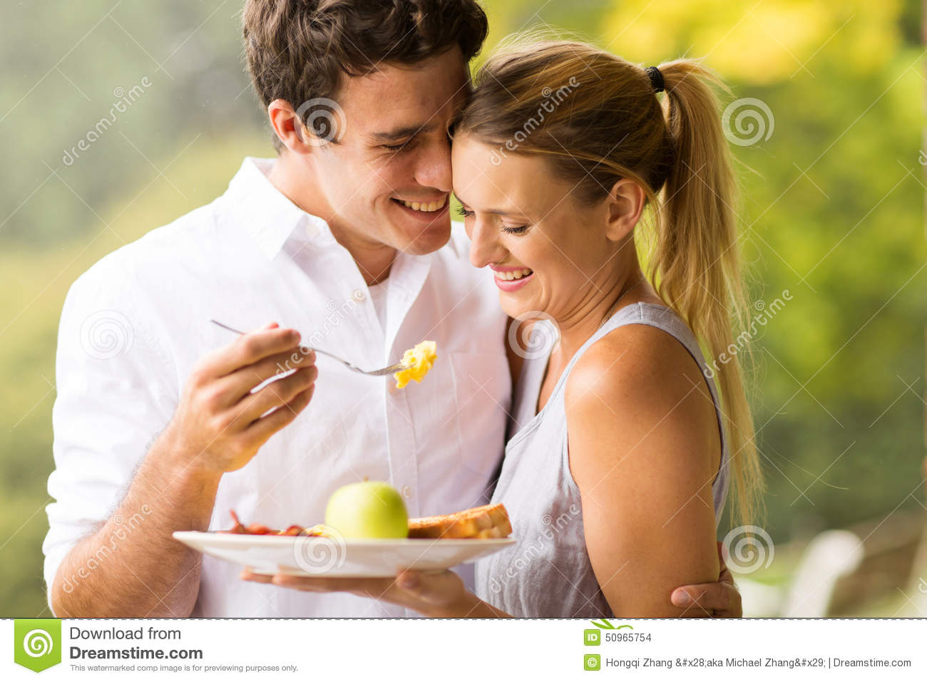 Husband Feeding Wife Breakfast Stock Images Download 251 Royalty