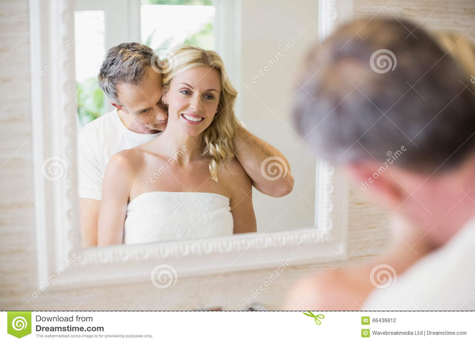 Couple Kissing Bath Stock Photos Images Pictures Images