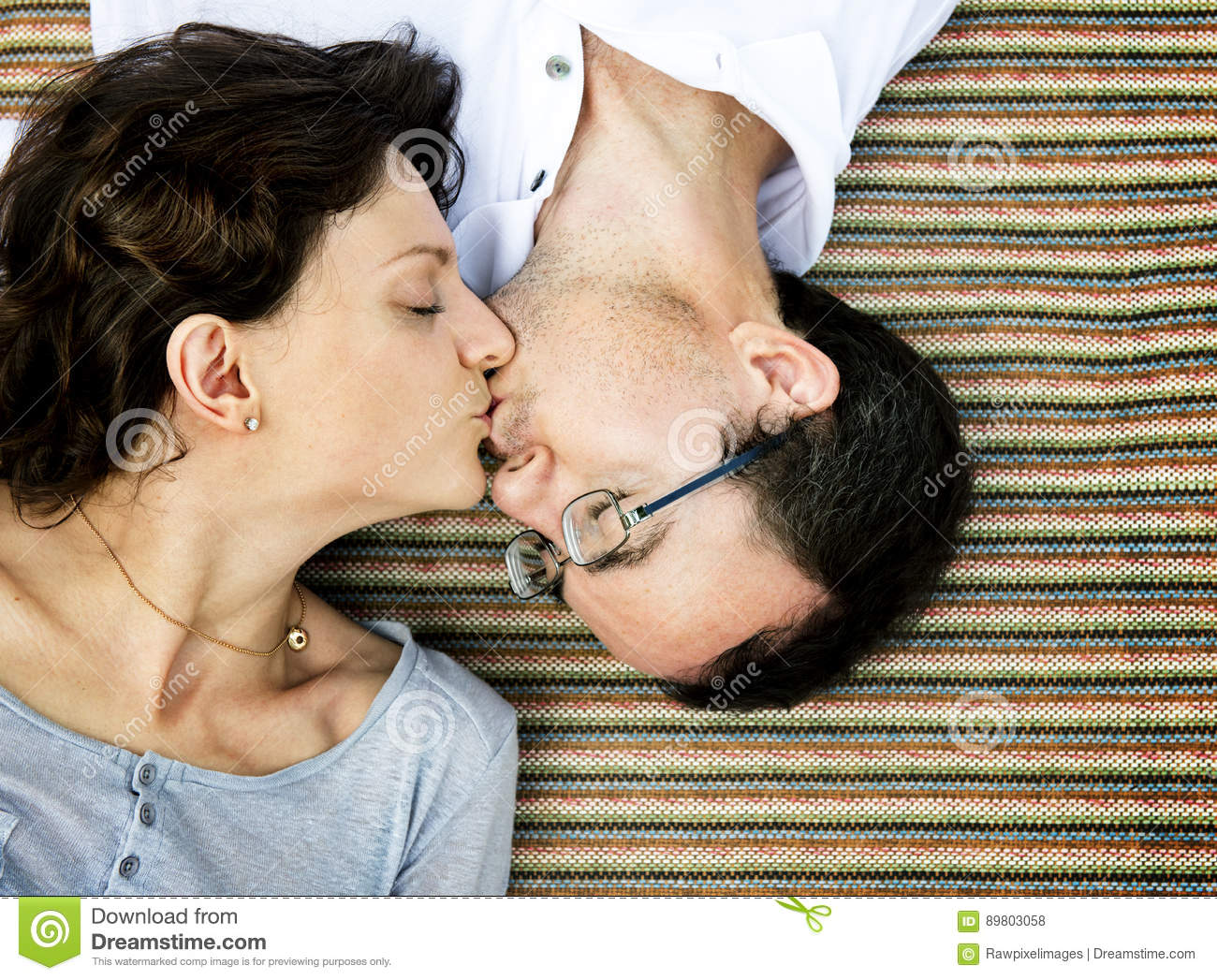 Husband Wife Kiss Romance Lifestyle Stock Photo Image Of Adult