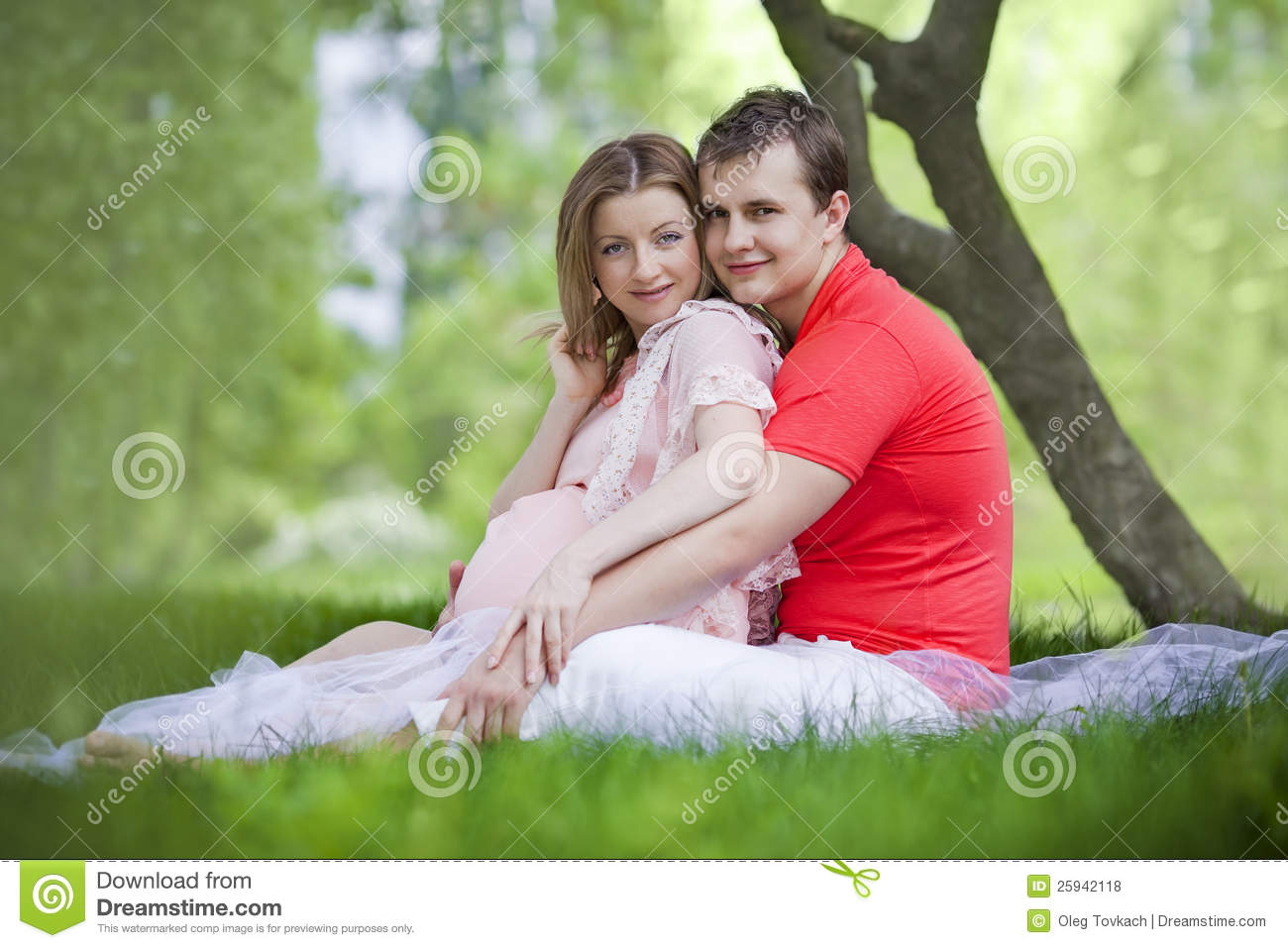 Husband And Wife Maternity Expecting A Child Or Baby Stock