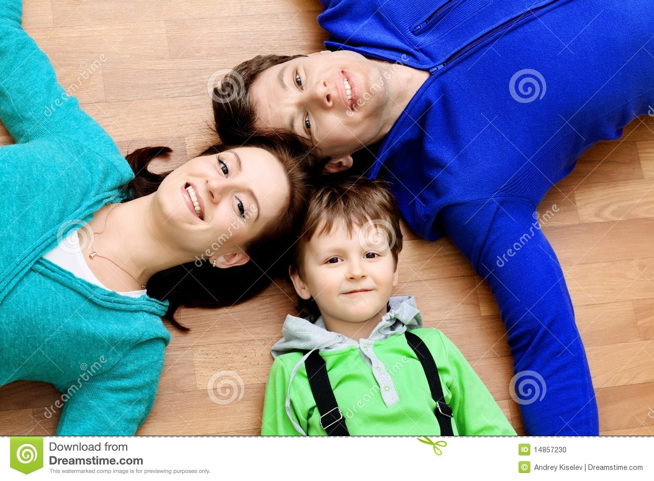 Husband, wife and son