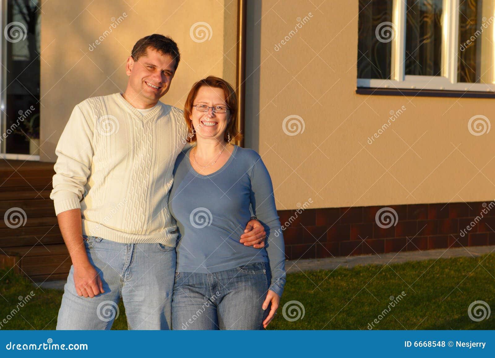 Домашний муж и жена
