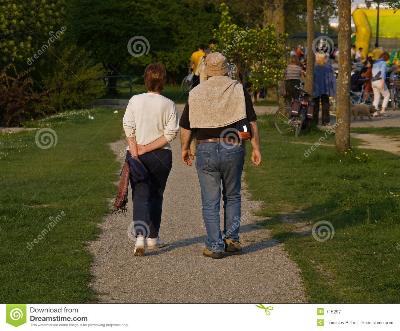 Husband And Wife Walking Royalty Free Stock Photography ...