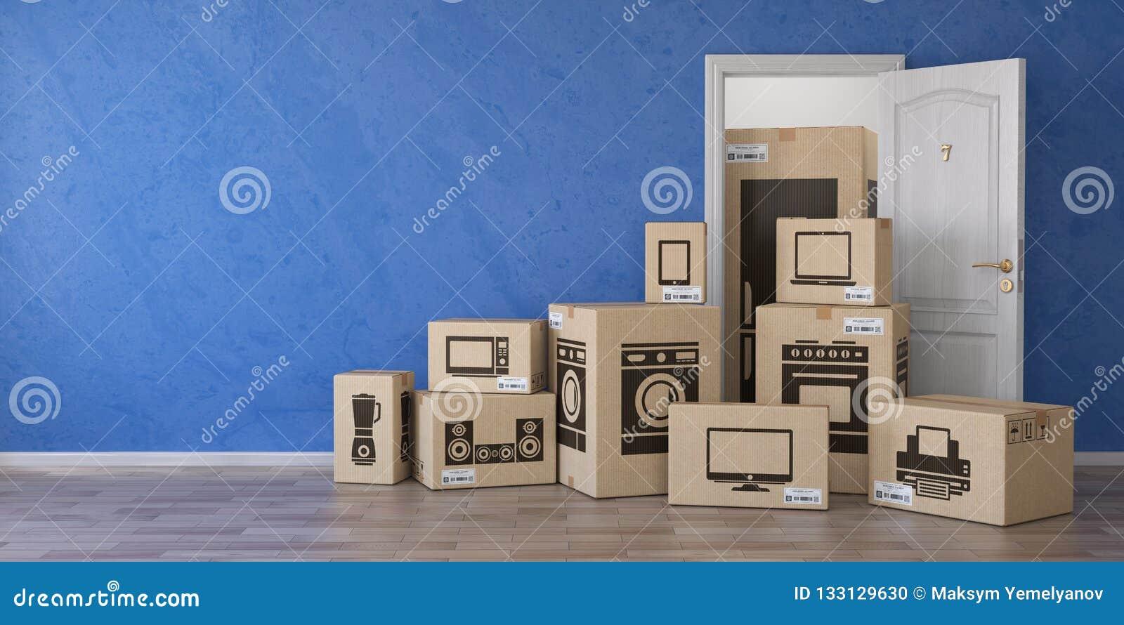 Hushållkökanordningar och hem- elektronik i papp b