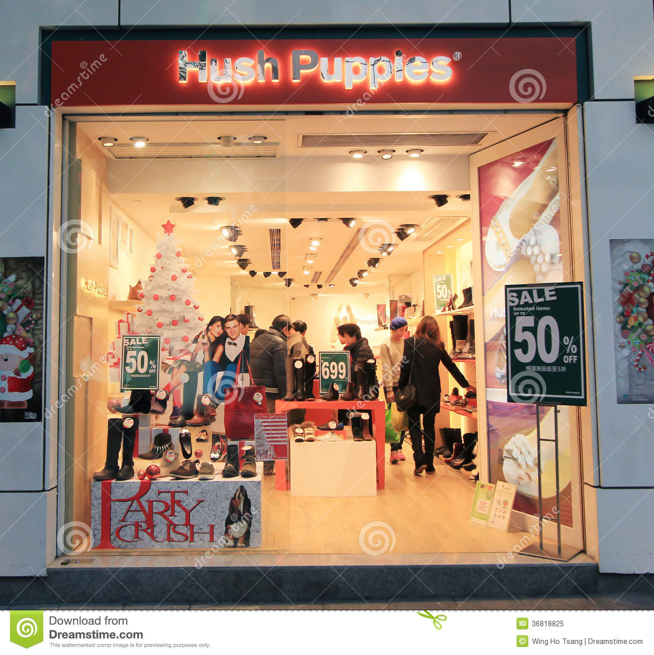 hush puppies shop in hong kong editorial image image 36818825. Black Bedroom Furniture Sets. Home Design Ideas