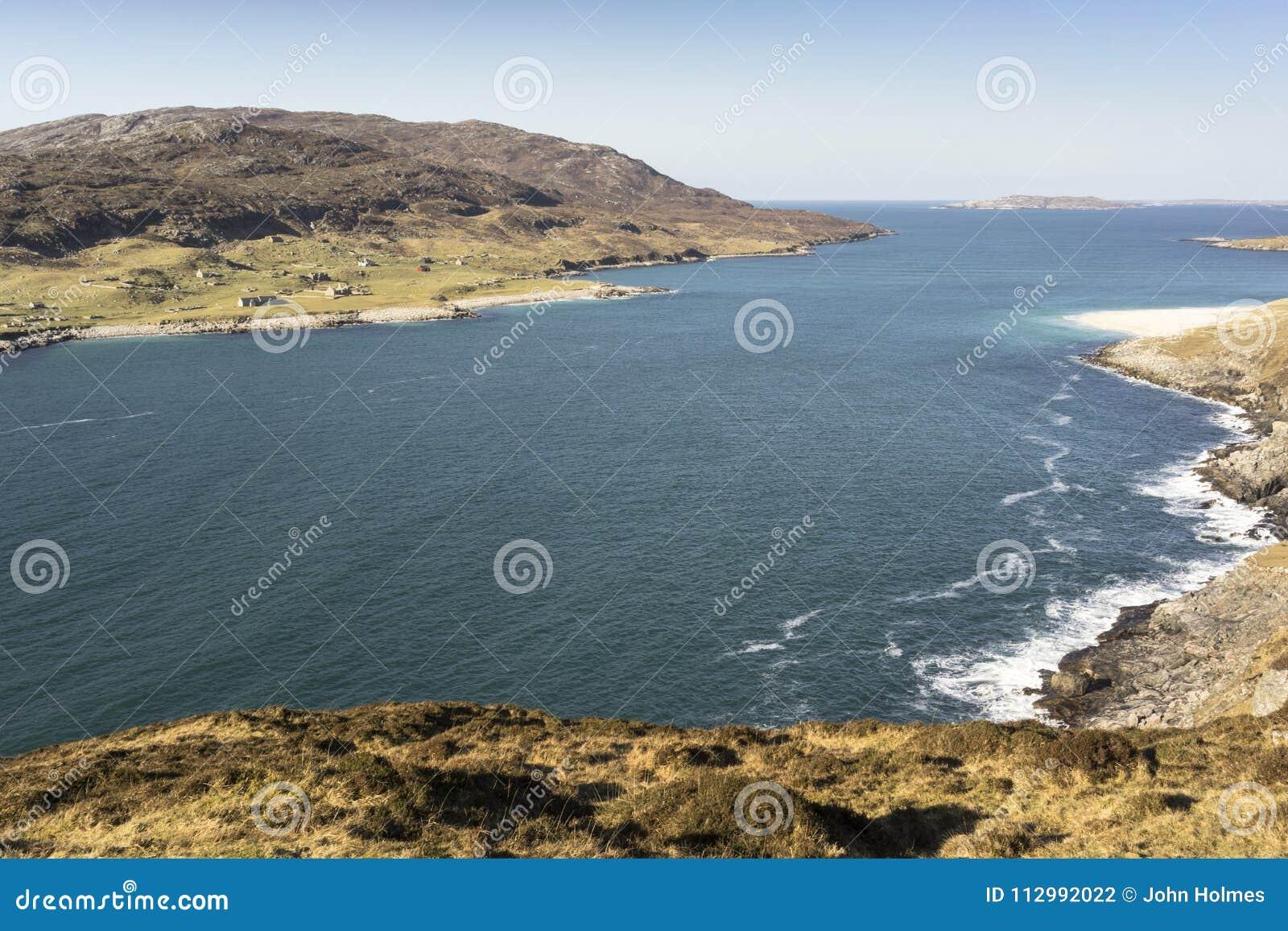 Hushinish coastline and the Isle of Scarp.