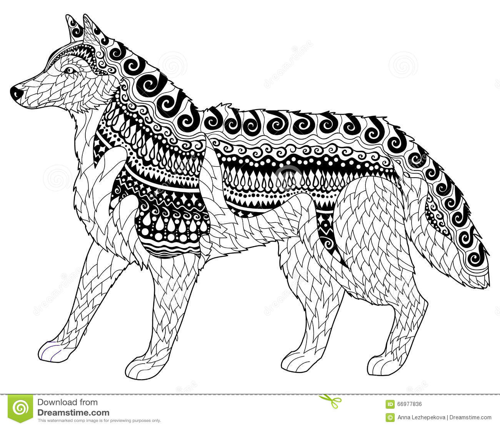 Husky Siberiano Con Los Altos Detalles Ilustración del Vector ...