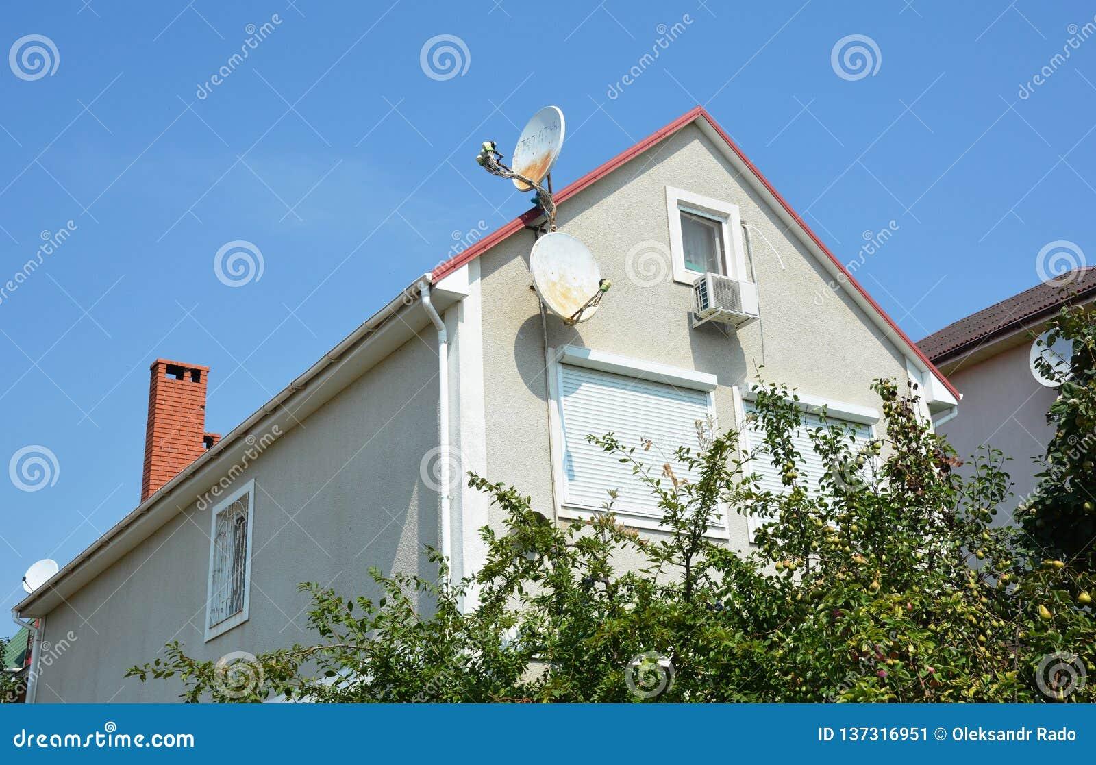 Husloftkonstruktion med jalousien, rullningsslutare för hem- skydd