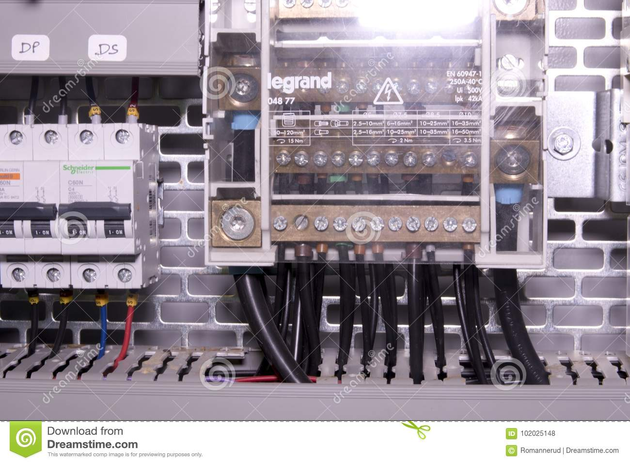 Image Shows Control Cubicle Schneider Circuit Breakers And Legrand How To Connect A Breaker Download Electric Device Inside Power Case