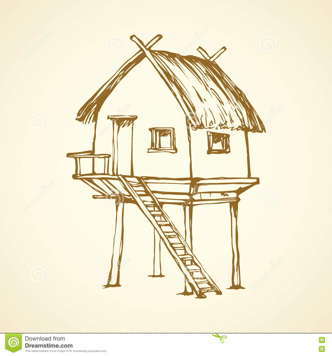 Beach hut cartoons illustrations vector stock images for Beach house drawing