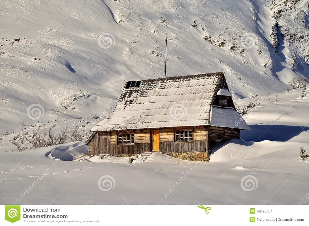 Hut in mountains