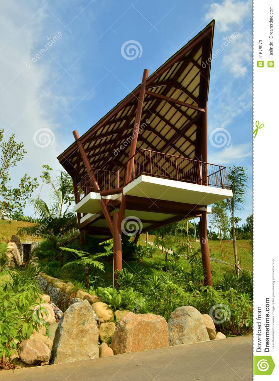 Hut Shelter At Nature Park Stock Image Image Of Punggol