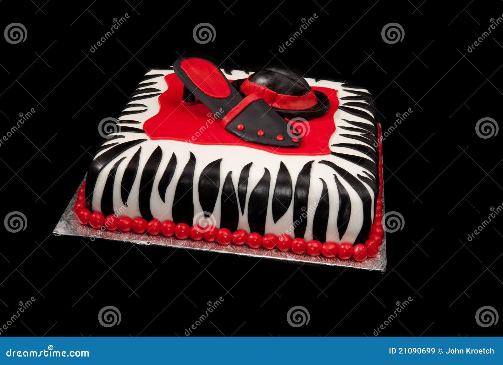 Hut Und Schuh Auf Zebra Drucken Kuchen Stockbild Bild Von Ferse