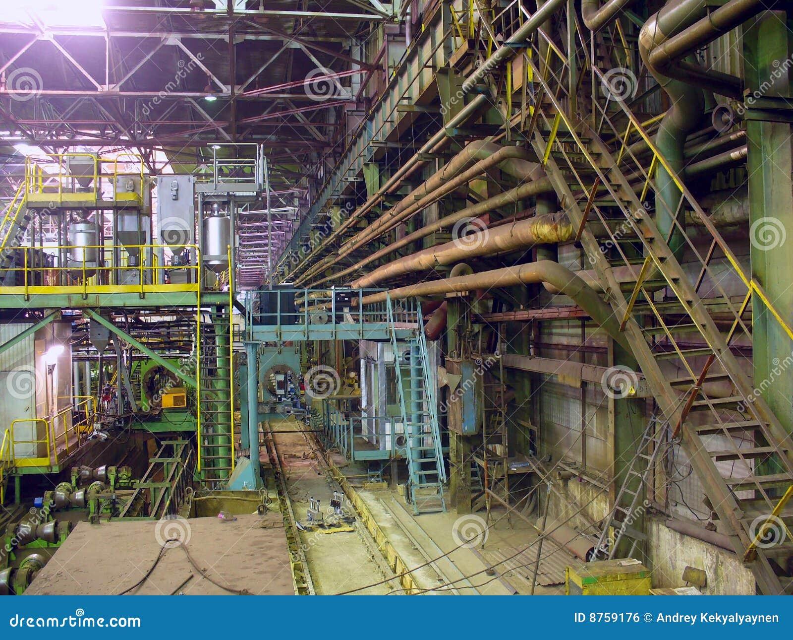 Hutnictwa zimny wydziałowy fabryczny kołysanie się