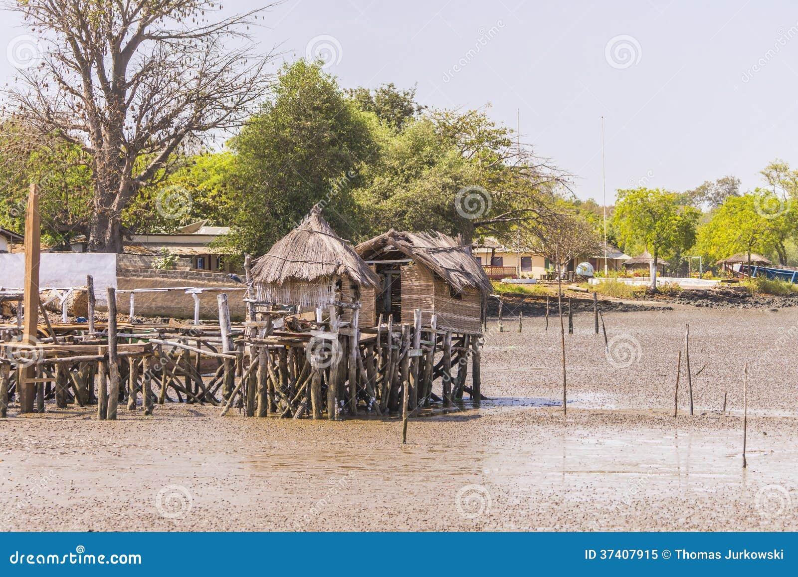 Huts of fishermen