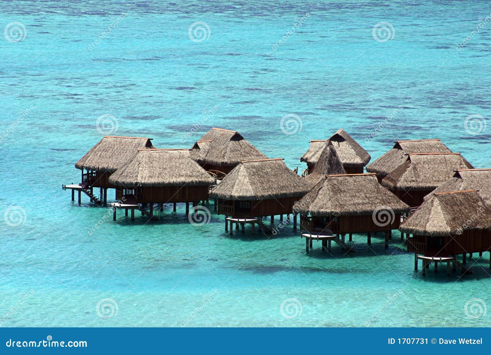 Huts in Tahiti