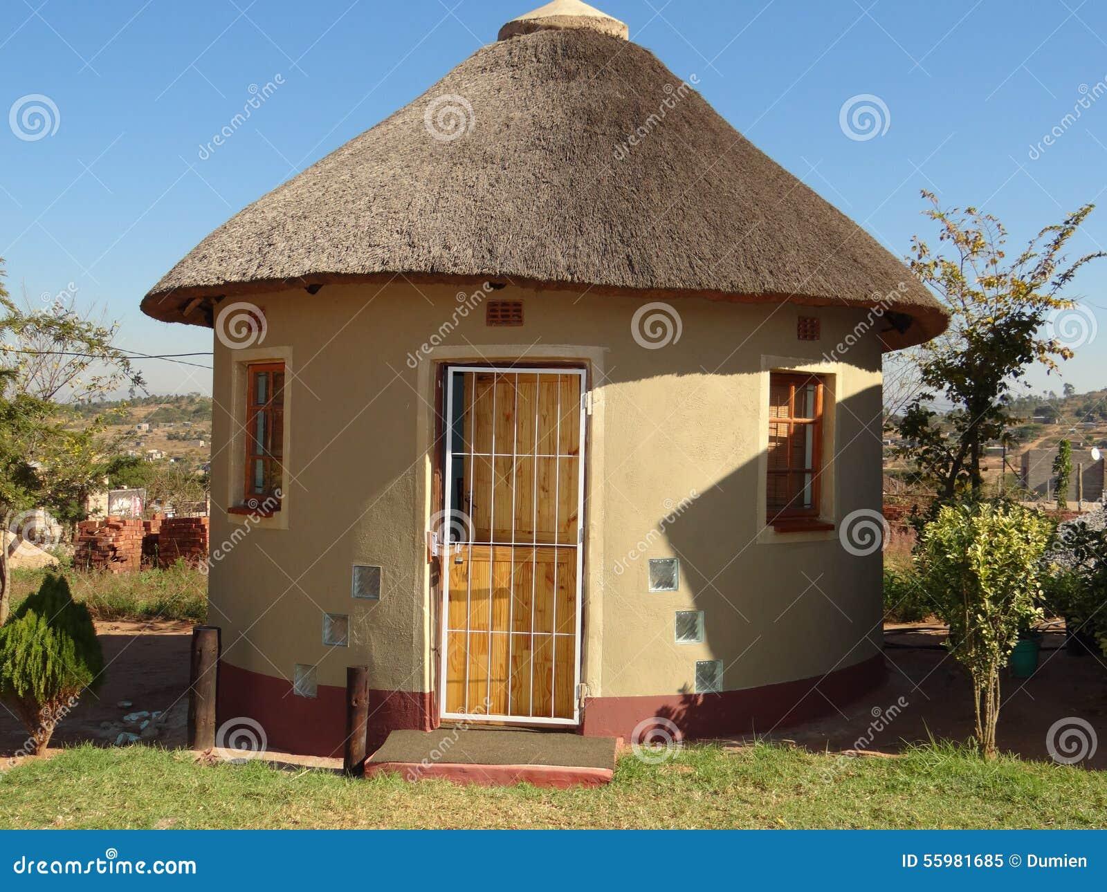 Hutte de rondavel afrique en afrique du sud