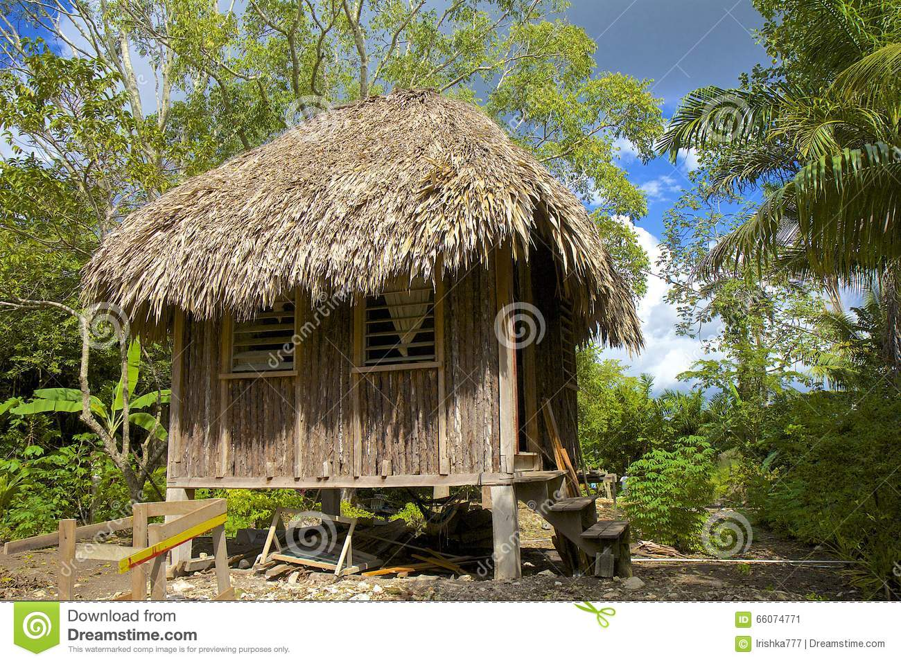 Hutte traditionnelle à Belize