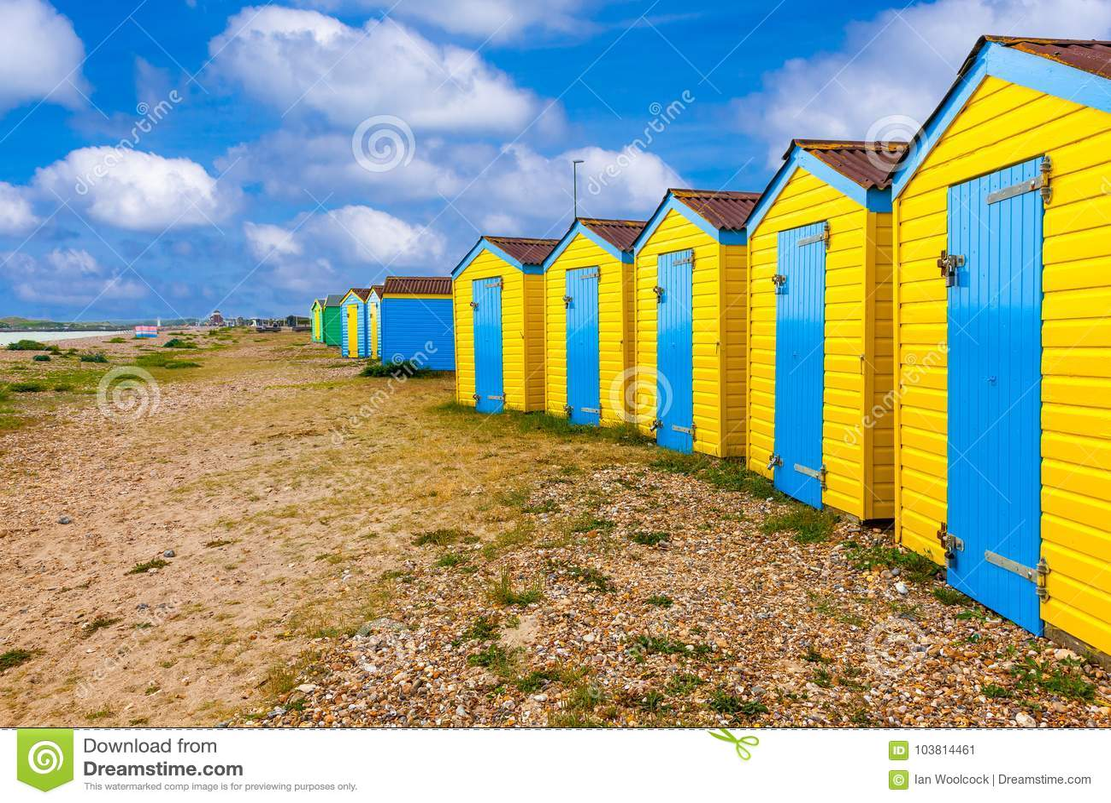 Huttes de plage de Littlehampton