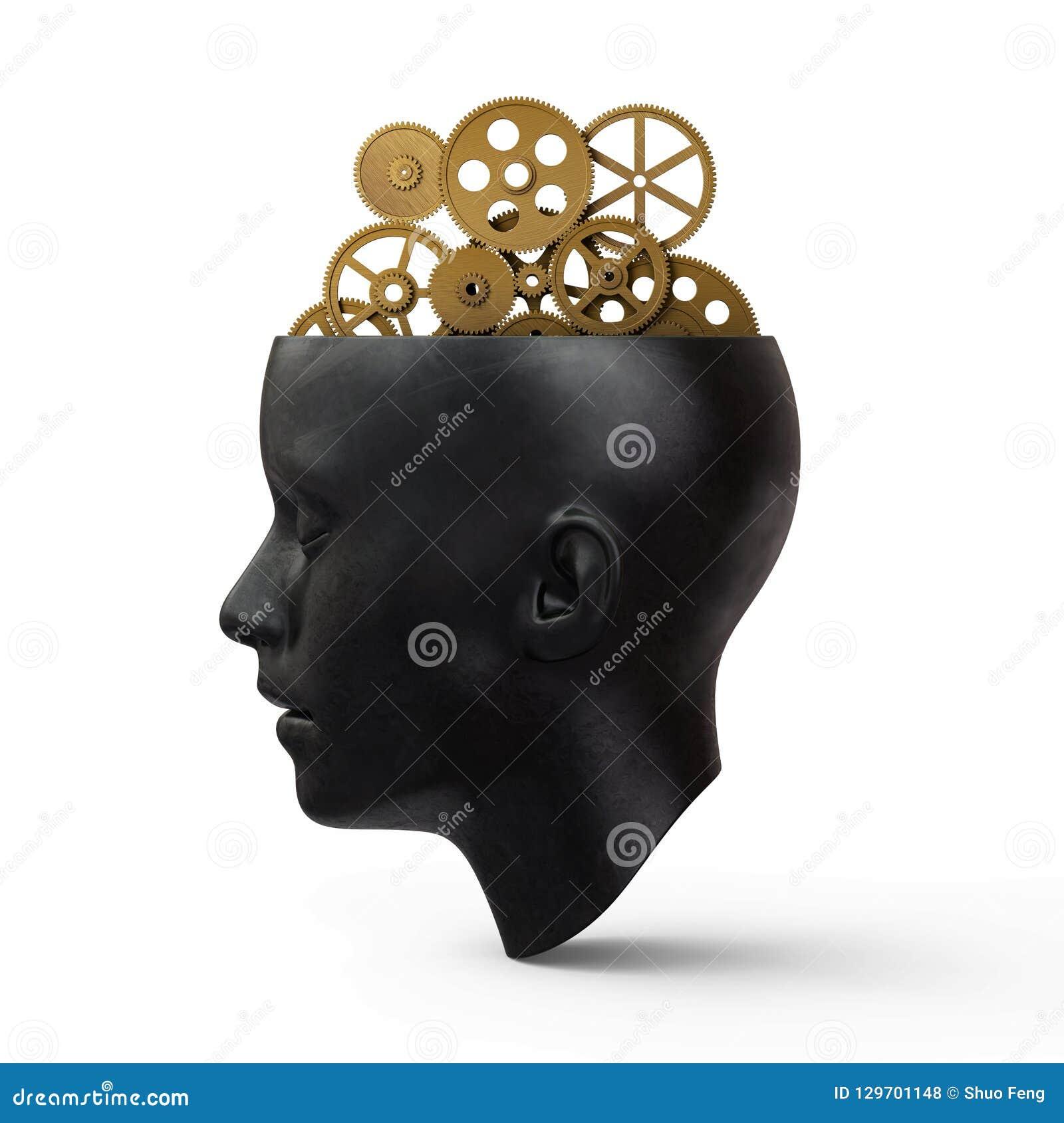 Huvud med kugghjul