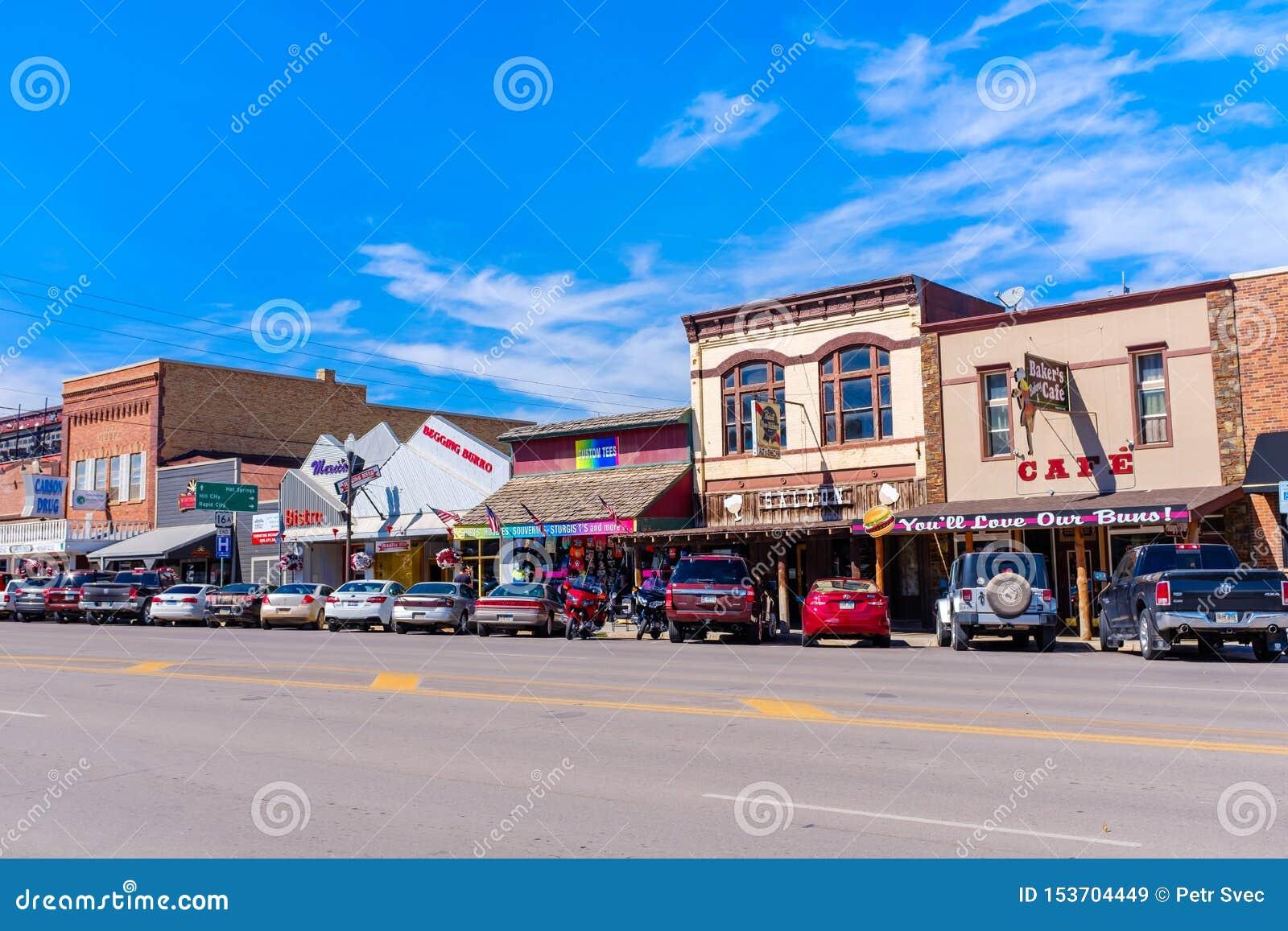 Huvudsaklig gata i Custer, South Dakota