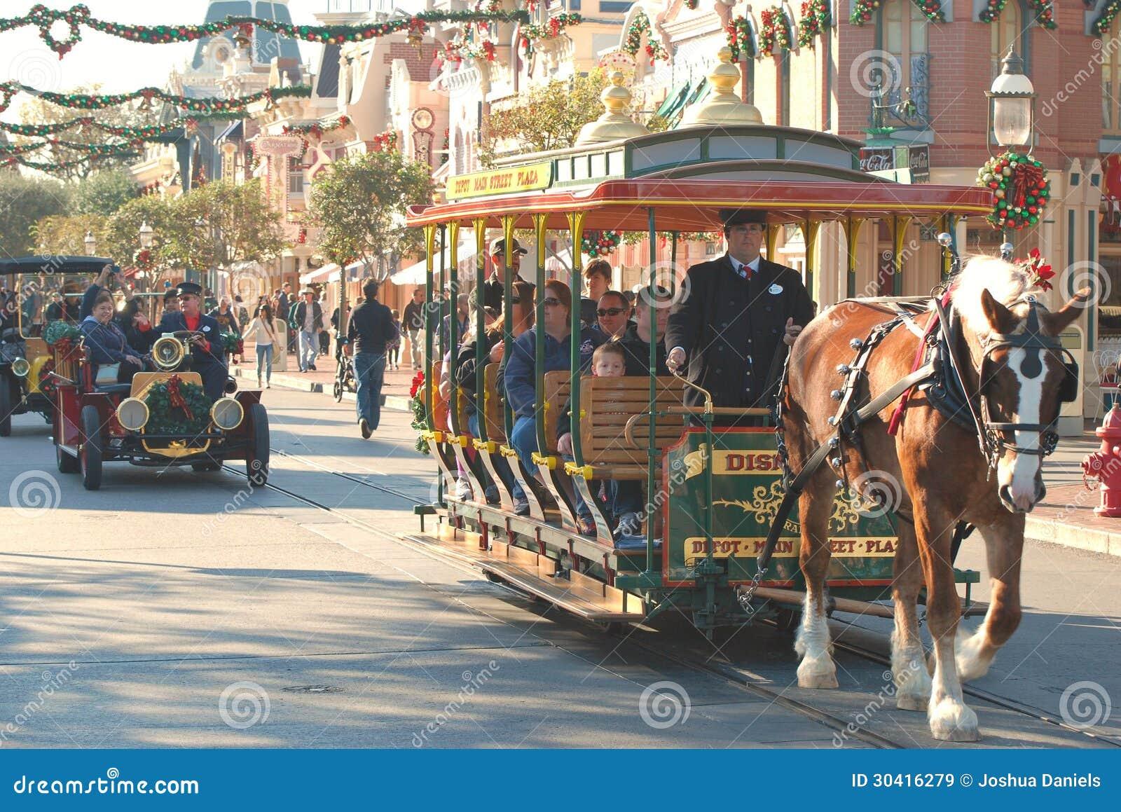 Huvudsaklig gata på Disneyland, Kalifornien