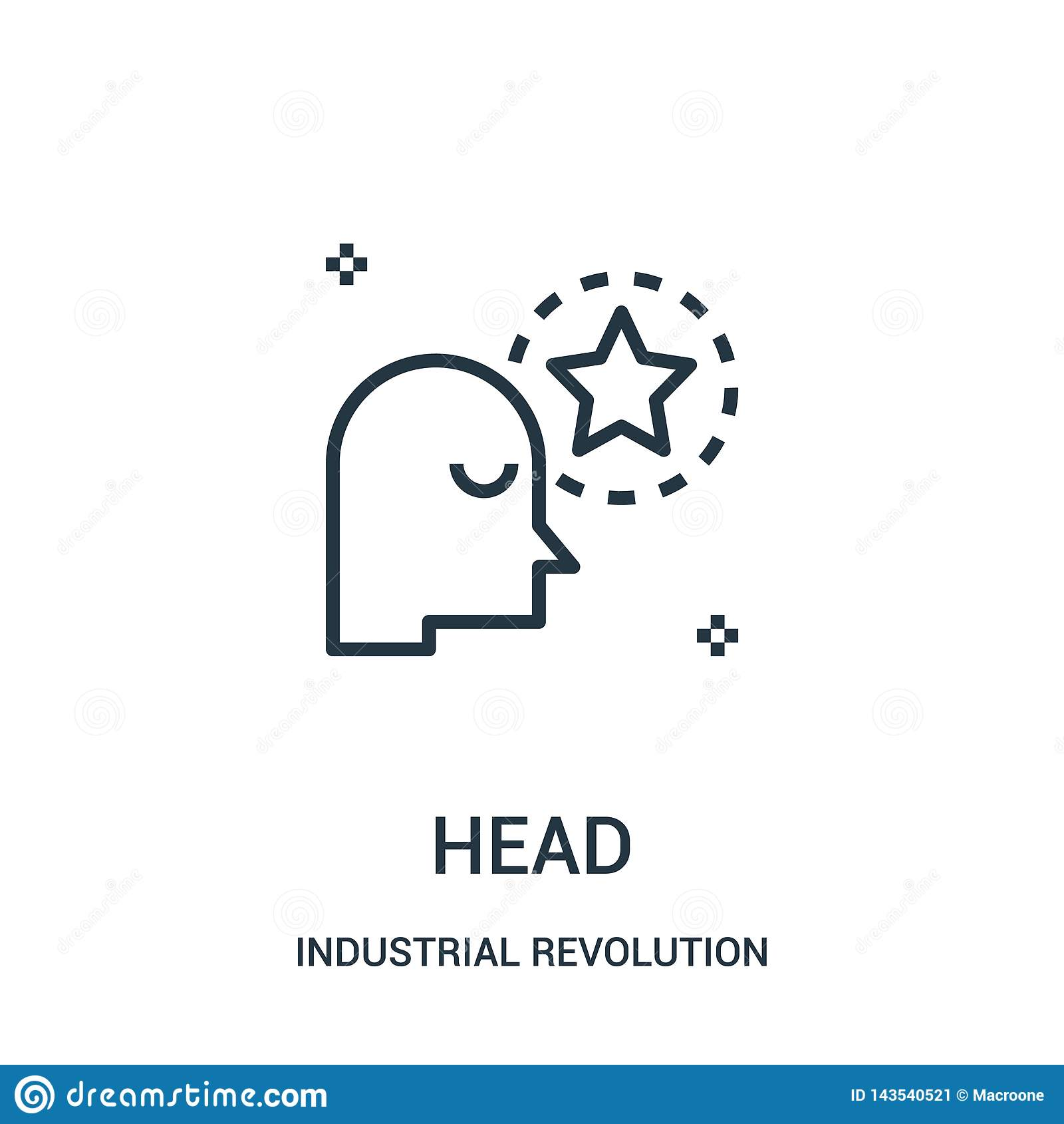 Huvudsymbolsvektor från samling för industriell revolution r