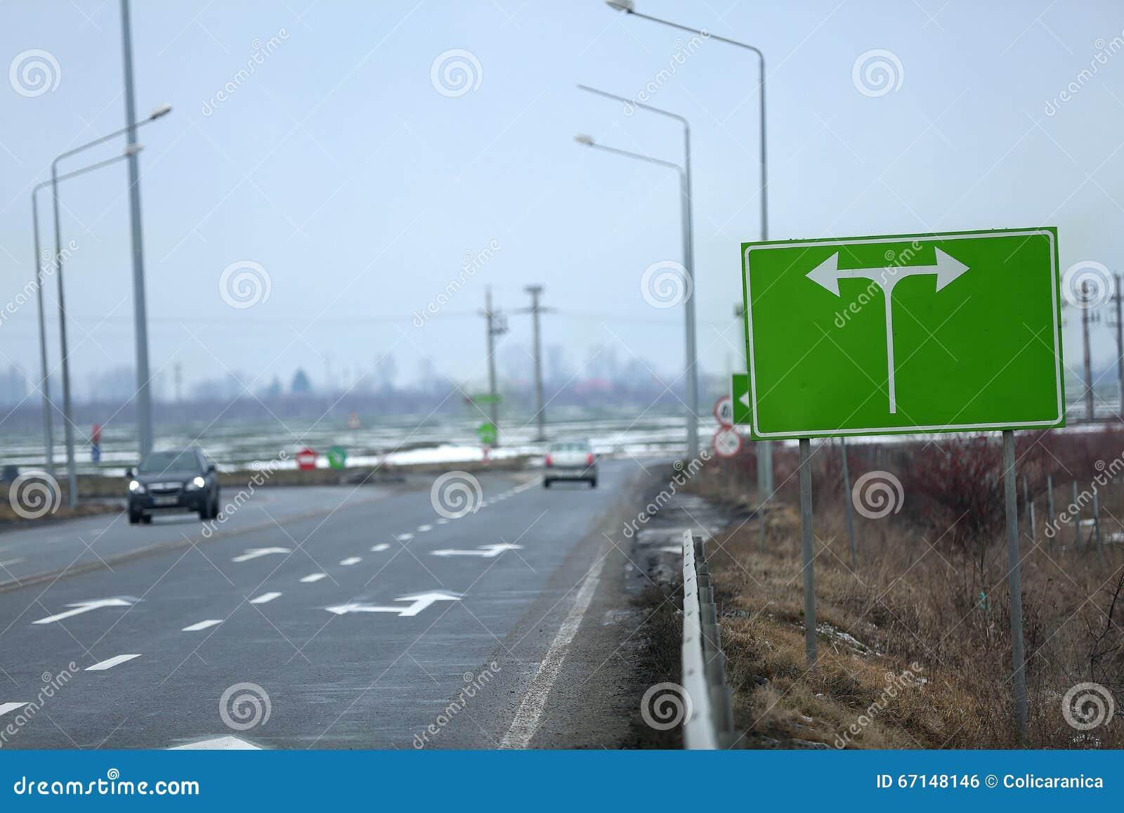 Huvudväg som ses från över