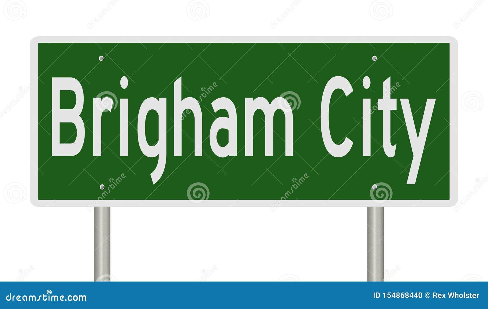 Huvudv?gtecken f?r Brigham City Utah