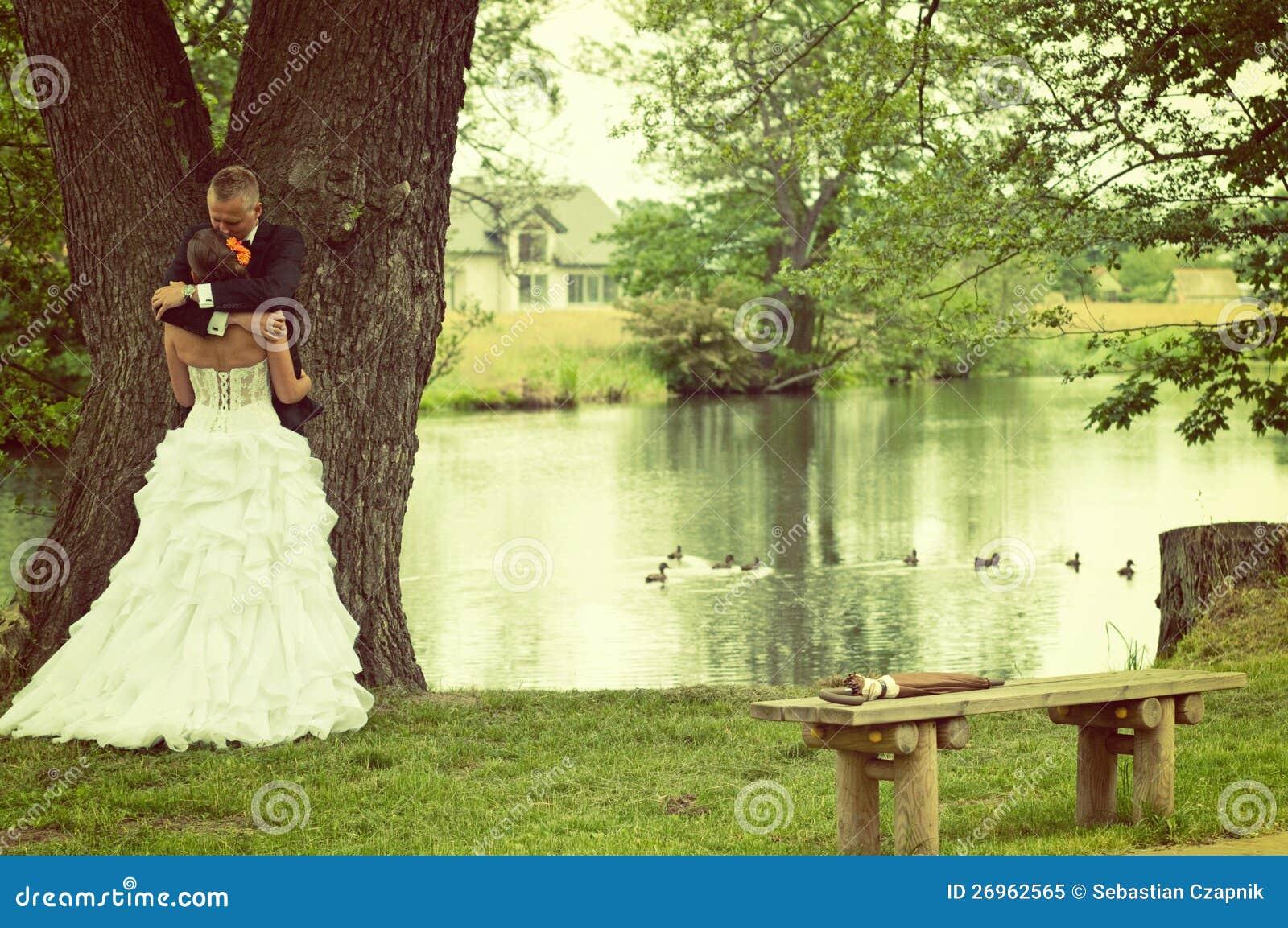 Huwelijk bij park