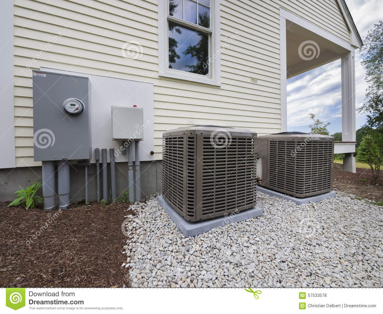 Hvac Heating And Air Conditioning Units Stock Photo
