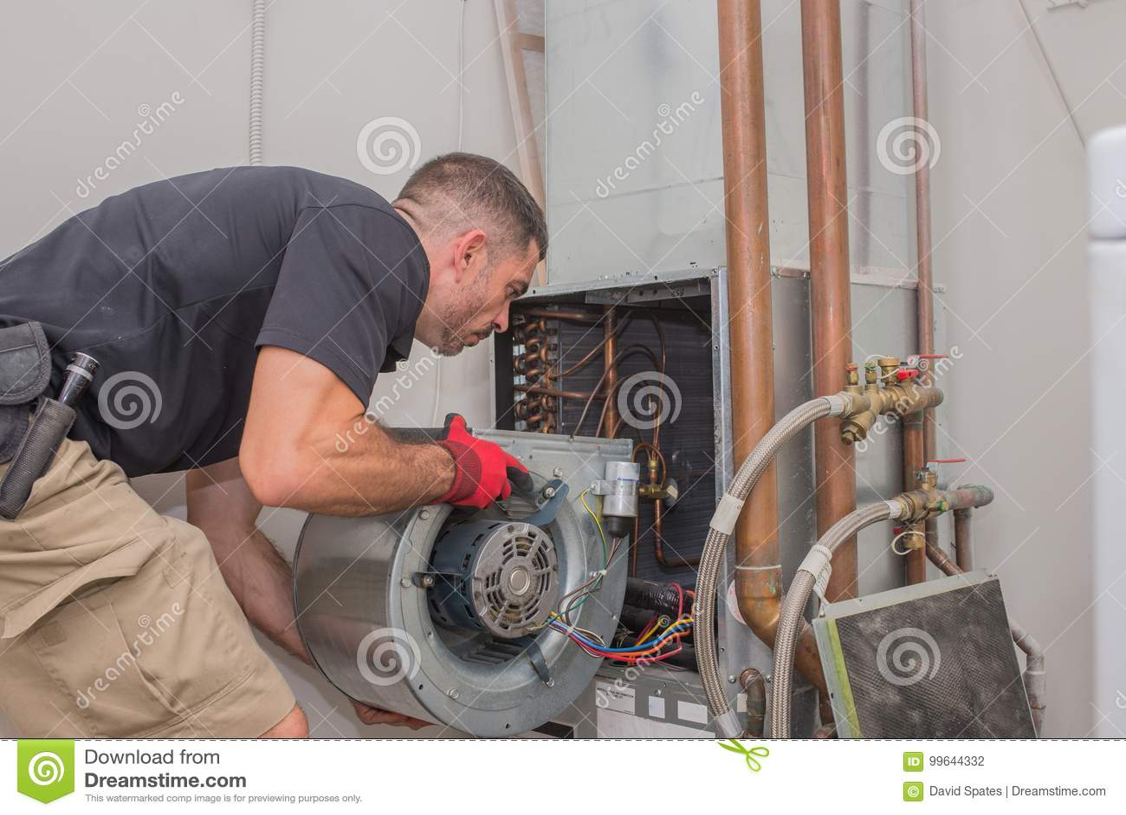 Hvac technician with Motor