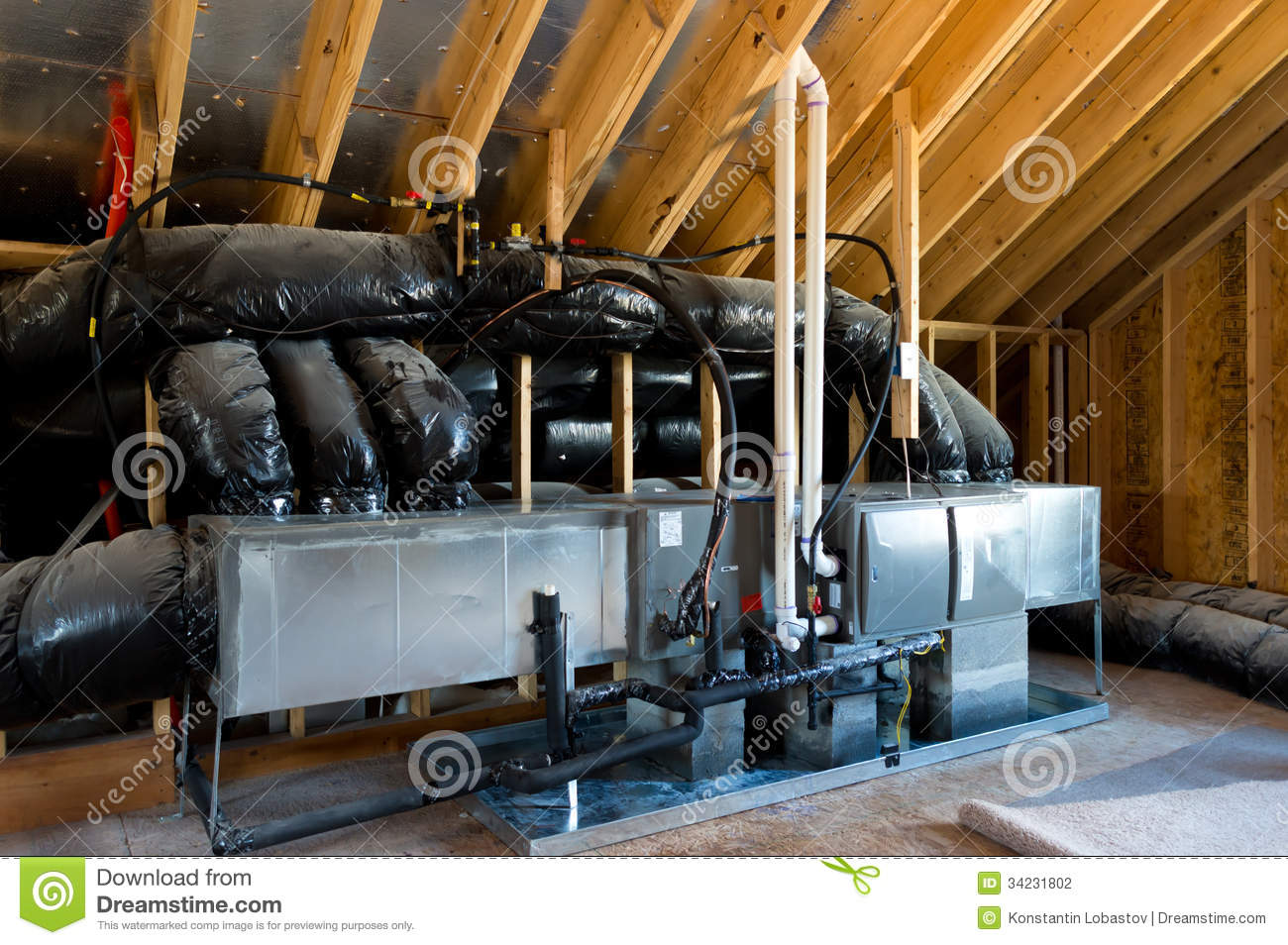 Hvac In Residential House Stock Photo Image Of Energy