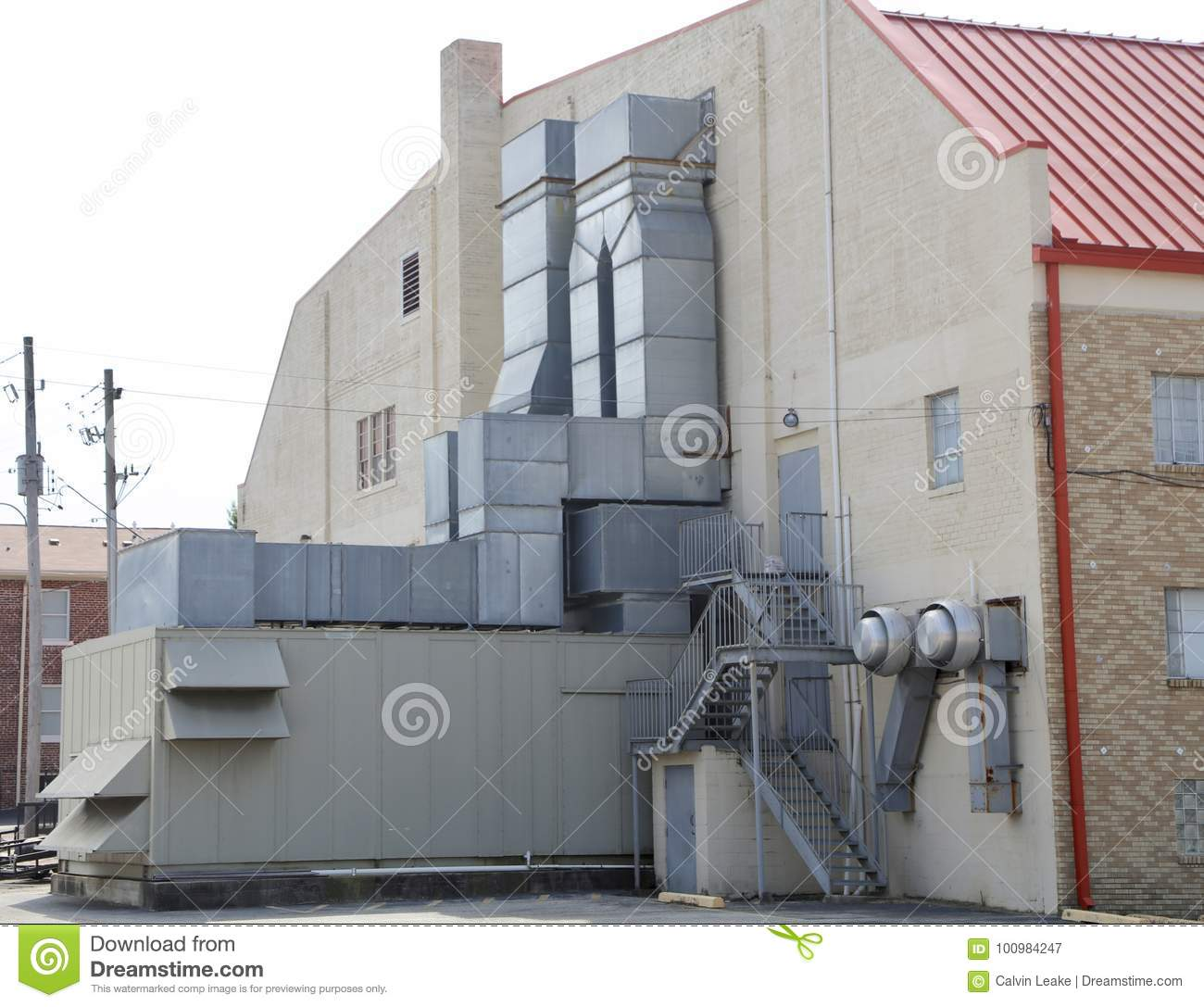 Hvac Unit Industrial Commercial Grade Stock Image Image