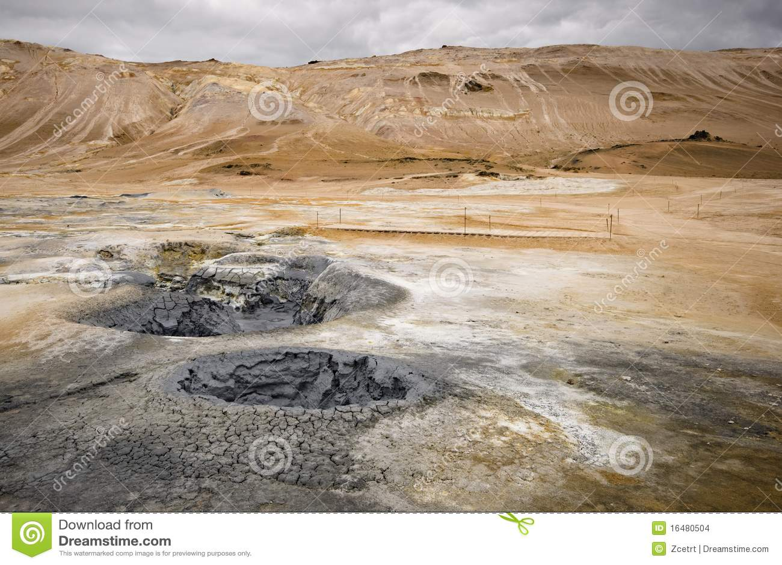 Hverarond τοπίο της Ισλανδίας ηφ&alpha