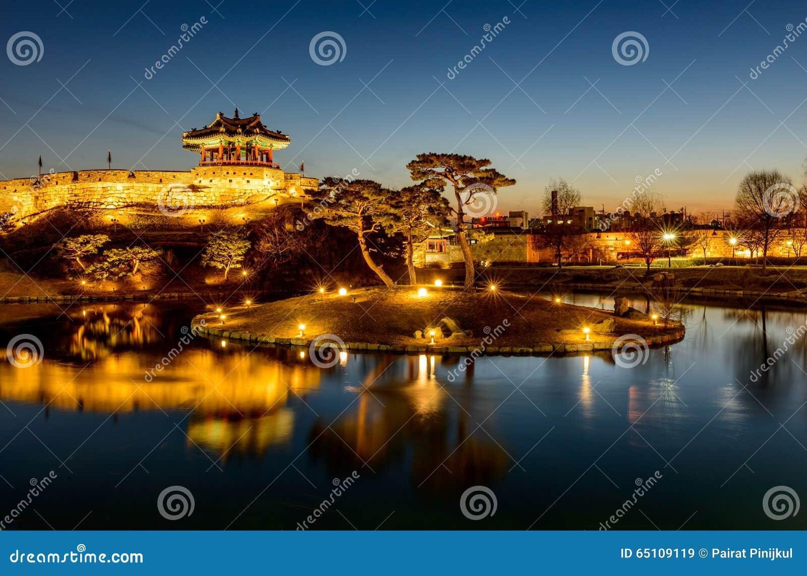 Hwaseong-Festung, traditionelle Architektur von Korea in Suwon an