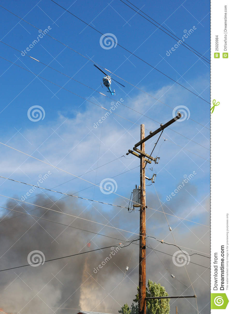 Hwy 99 Fire stock photo  Image of electrician, fire, water - 25020984