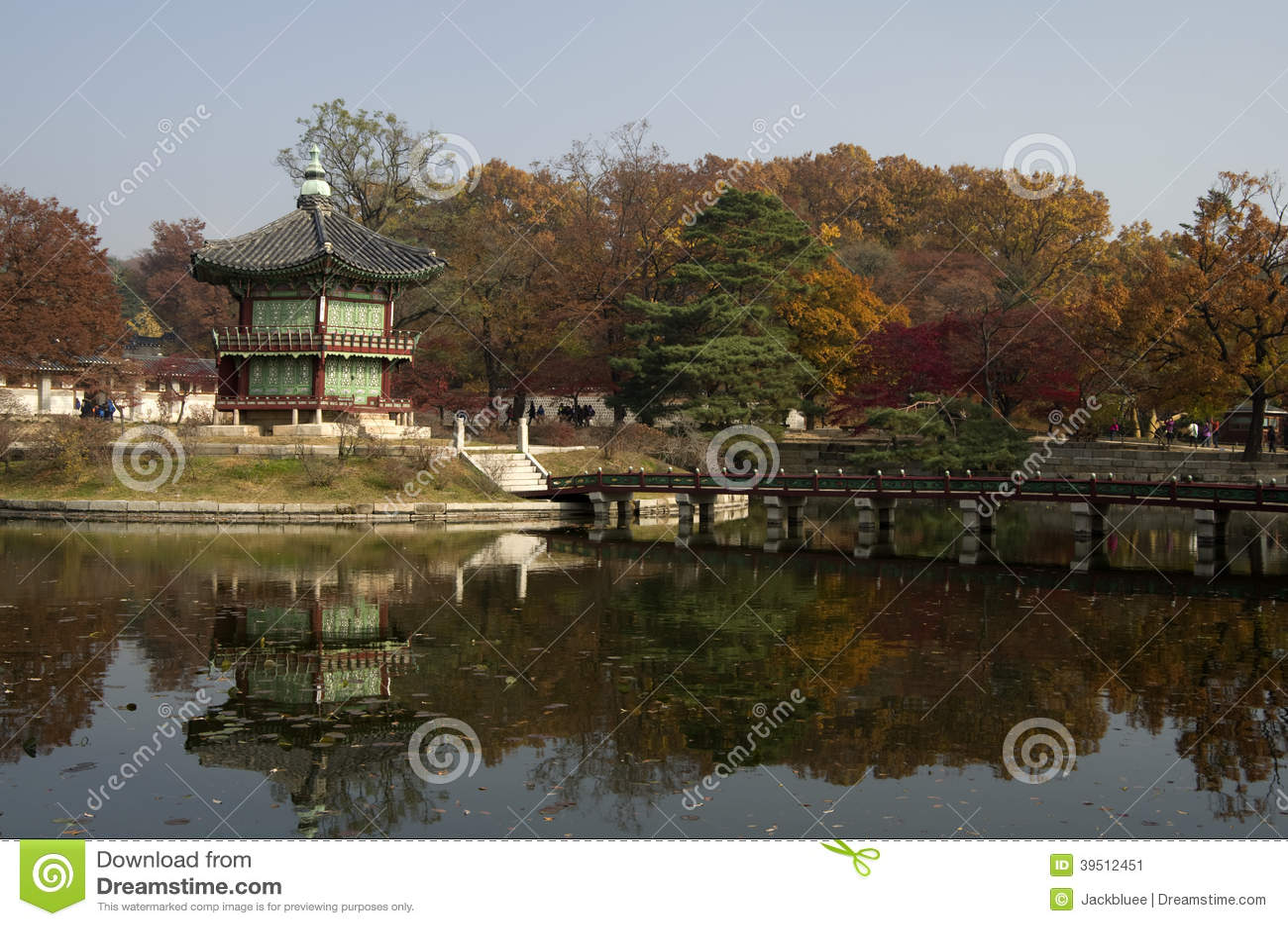 Hyangwonjeong an Gyeongbokgungs-Palast Seoul Korea