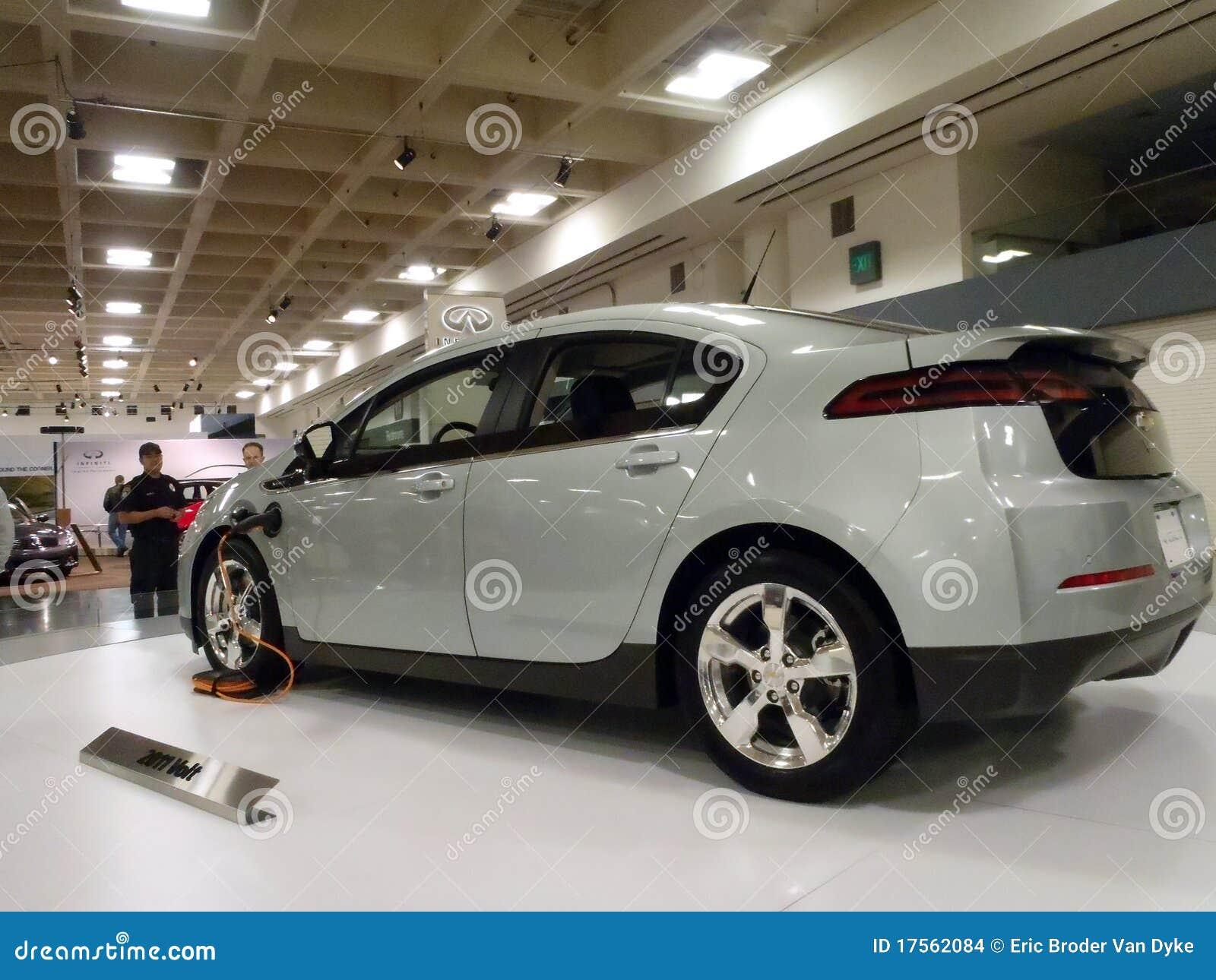 Hybrid Car The Chevy Volt On Display Platform Editorial Stock