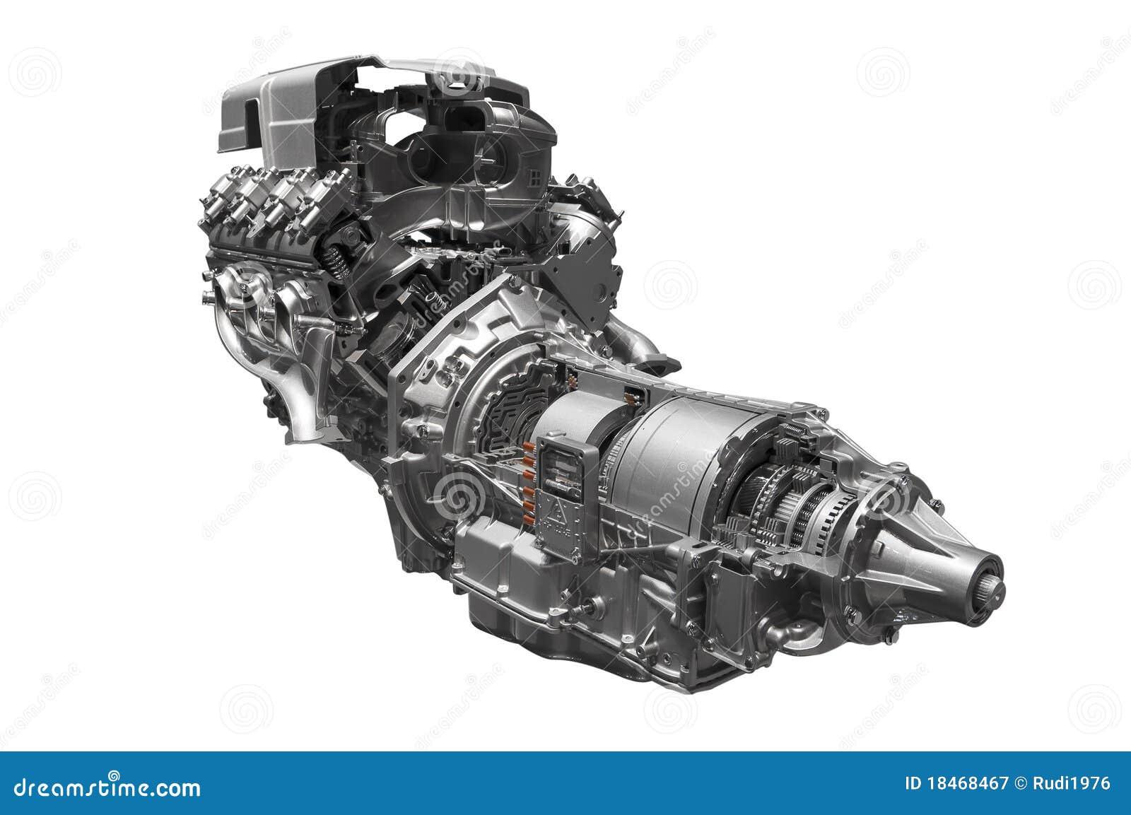 Hybrid Car Engine Royalty Free Stock Photography Image