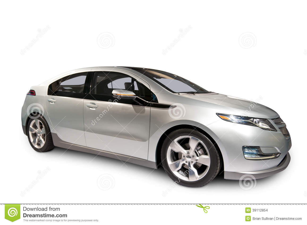 chevrolet volt hybrid car isolated on white stock photo image 39112854. Black Bedroom Furniture Sets. Home Design Ideas